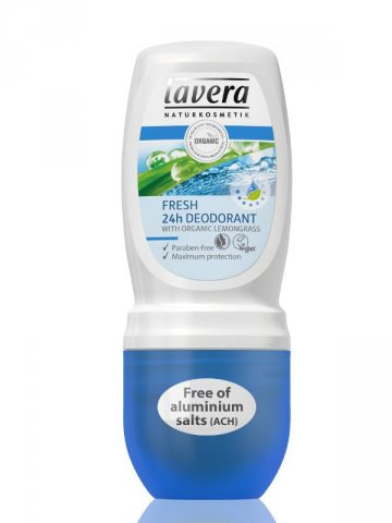 Jemný deo roll-on Fresh 24h - 50ml Lavera